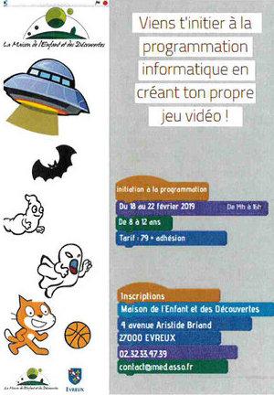 stage programmation informatique - Maison de l'Enfant et des Découvertes - Evreux